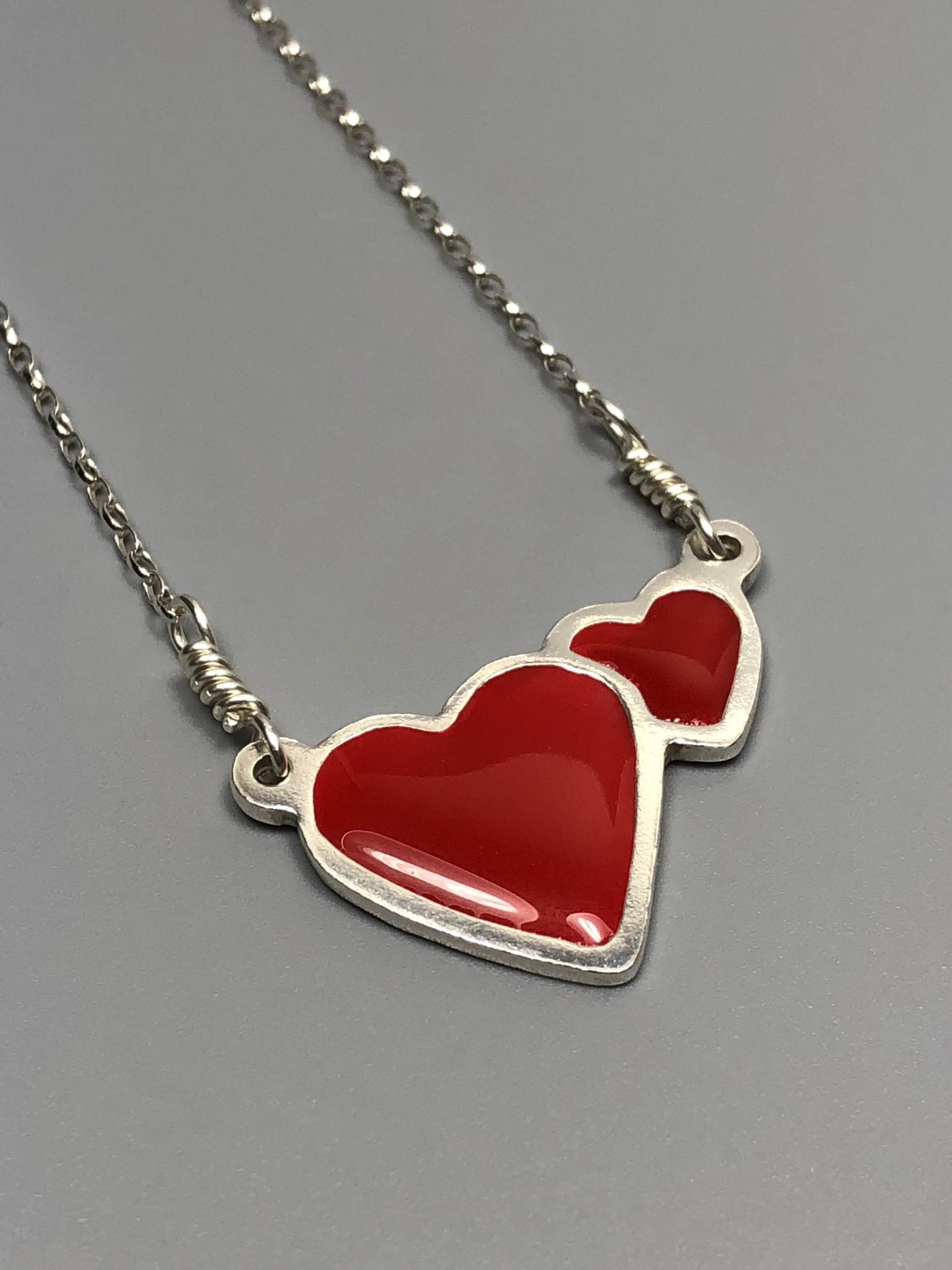 pendant products red realreal lalique jewelry enlarged heart the necklace necklaces
