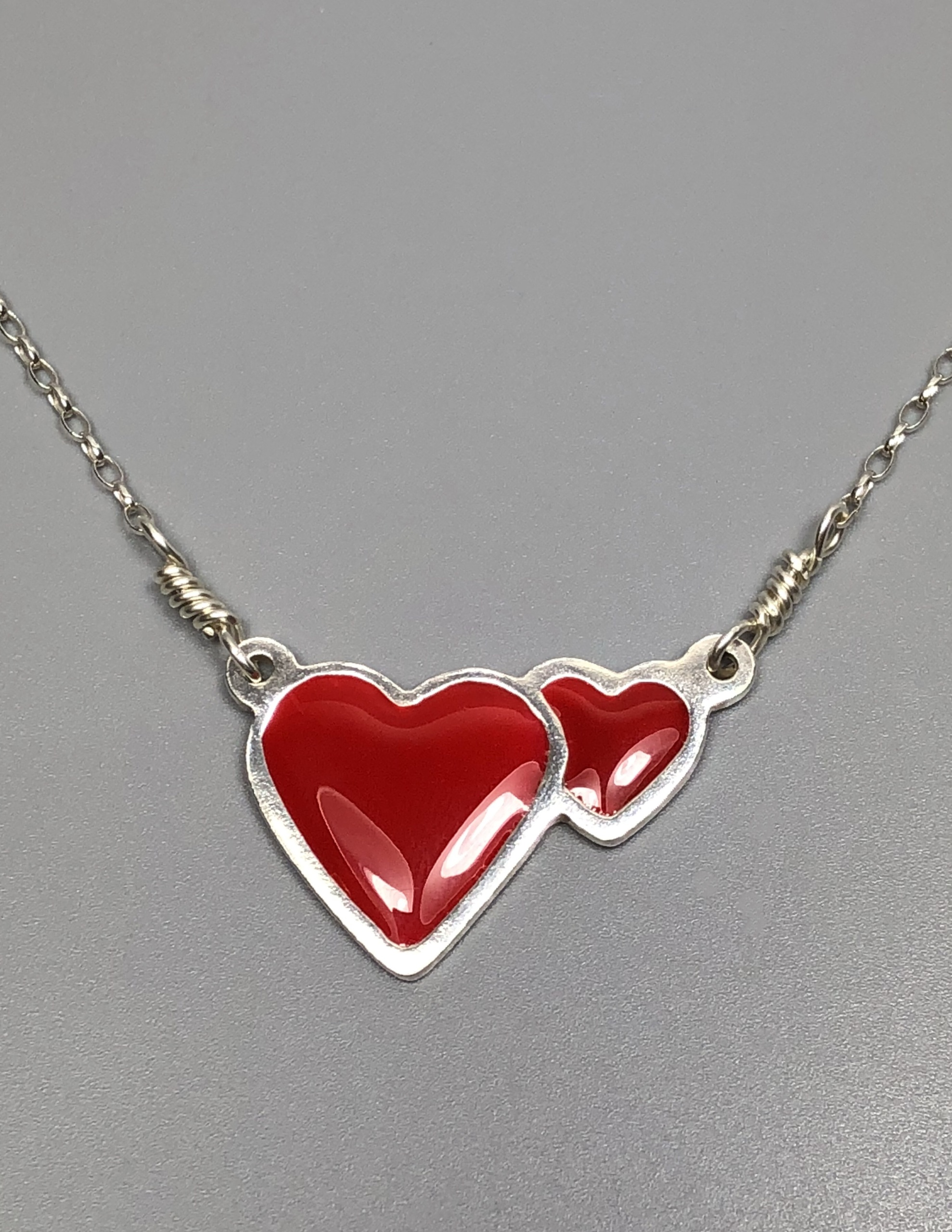 jewellery wholesale reversible heart red uk small necklace
